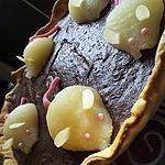 recette Tarte la ronde des souris (mousse au chocolat et aux poires)
