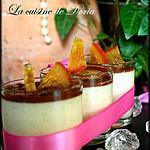 recette Panna Cotta à la vanille avec sa crème au chocolat et poire