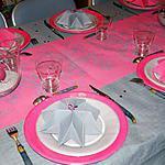recette Idée de déco de table (gris/fushia)