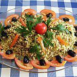 recette Quinoa  gourmand en salade.