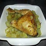 recette Cuisse de poulet, pomme de terre au four