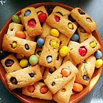 recette Financiers amande au M&M's (ou smarties)