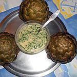 recette Artichauts vinaigrette a la ciboulette