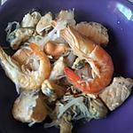 recette choucroute de saumon et fruits de mer