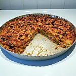 recette Quiche sans pâte, aux carottes, poireaux, bacon et muscade.
