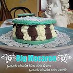 recette Big macaron chocolat blanc coco & chocolat noir cannelle
