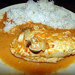 recette Poulet sauce rouge aux champignons (sans matière grasse)