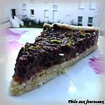 recette Tarte mousseuse au chocolat & poires poêlées au miel