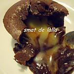 recette FONDANT AUX CHOCOLAT NOIR ET BLANC
