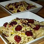 recette Pâtes aux Poireaux, Moutarde et Chips de Chorizo
