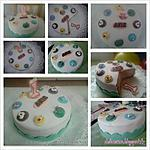 recette Gâteau d'anniversaire en pâte à sucre garçon 1 an  (thème jungle)