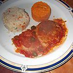 recette escalope  de porc a la tomate et cornichons