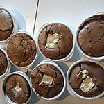 recette Moelleux au chocolat noir coeur fondant au chocolat blanc