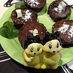 recette moelleux chocolat noir , coeur chocolat blanc