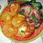 recette Côtes de porc grillées, ananas et pommes au four
