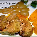Escalope de foie gras fras de canard aux raisins