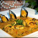 recette Crème de moules de Bouchot au safran