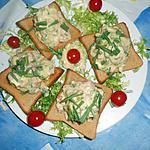 recette Toasts de thon a la sauce gribiche