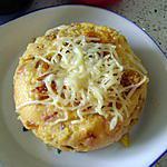 recette polenta : jambon , lardons