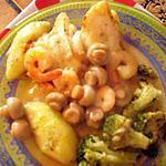 recette filets de soles aux crevettes et champignons