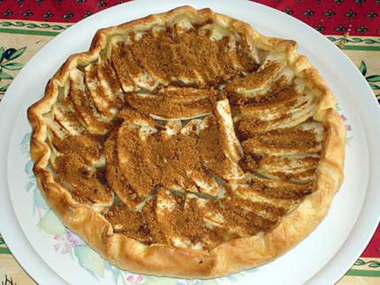 Recette de Tarte feuilletée aux pommes et spéculoos
