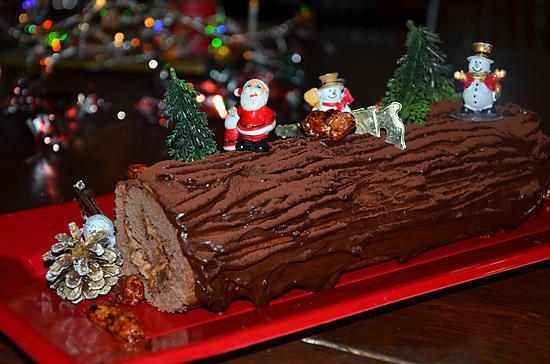Buche de noel au chocolat grand mere