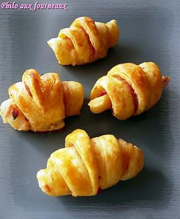 Recette de Mini-croissants jambon & gruyère