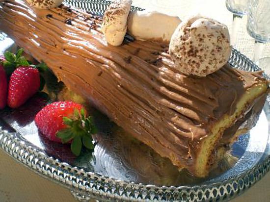 Buche au chocolat meringue