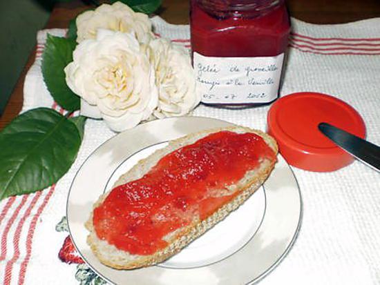 Recette de Gelée de groseilles rouges à la vanille